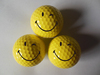Factory custom yellow golf ball with Smiley Face for promotion