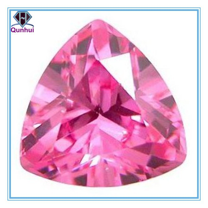 special light pink triangle shaped gemstone
