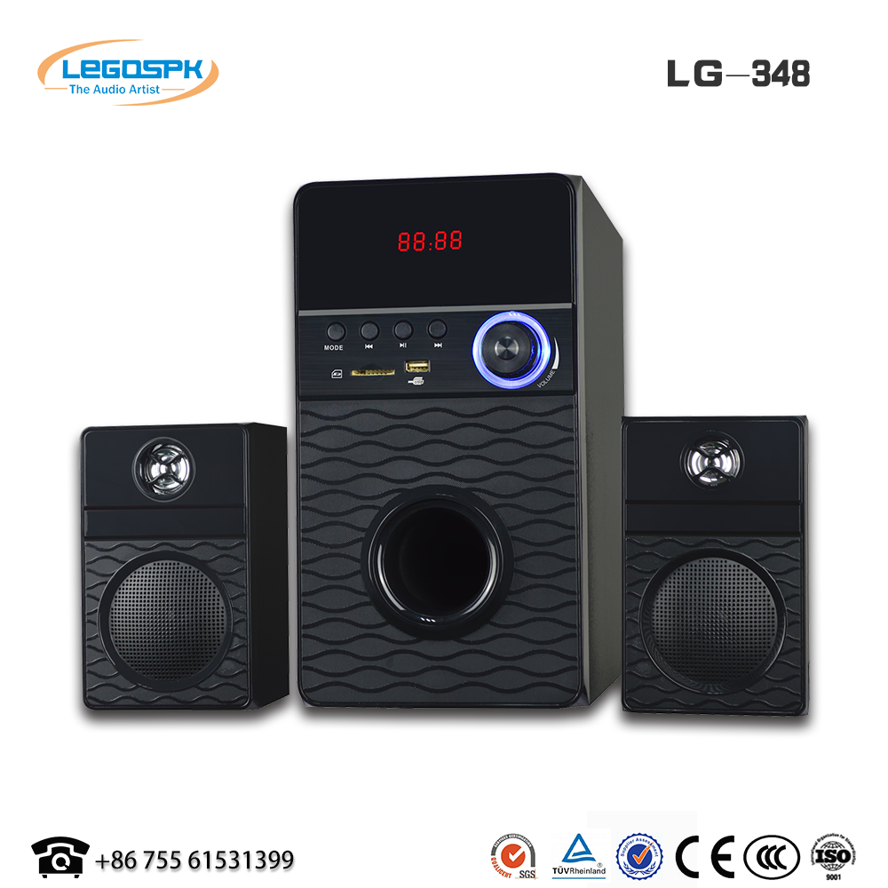 Subwoofer home theater system 2.1 multimedia super heavy bass speaker with usb sd fm bt remote