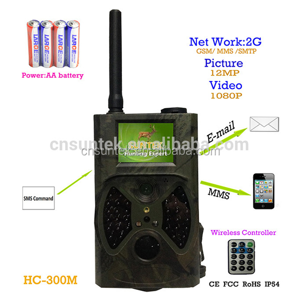 New 1080p Hot Sale Night Vision hunting gun camera ,scout guard infrared digital hunting camera MMS