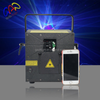 Full color animation mini laser stage lighting with 3W