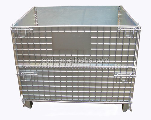 RH-C-U05 Warehouse Cage Mesh Box Wire Cage Metal Bin Storage Container