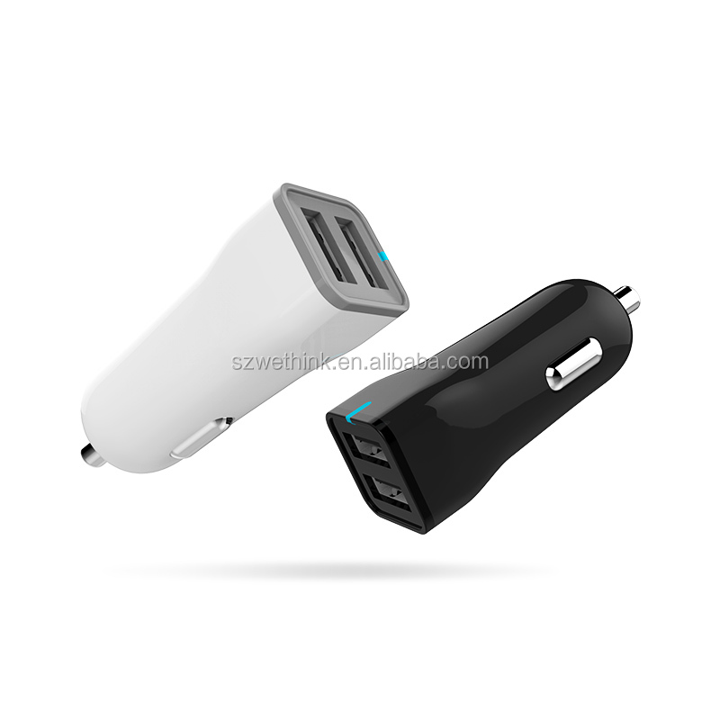 Portable 2 Port USB Car Charger For Mobile <strong>Phone</strong>