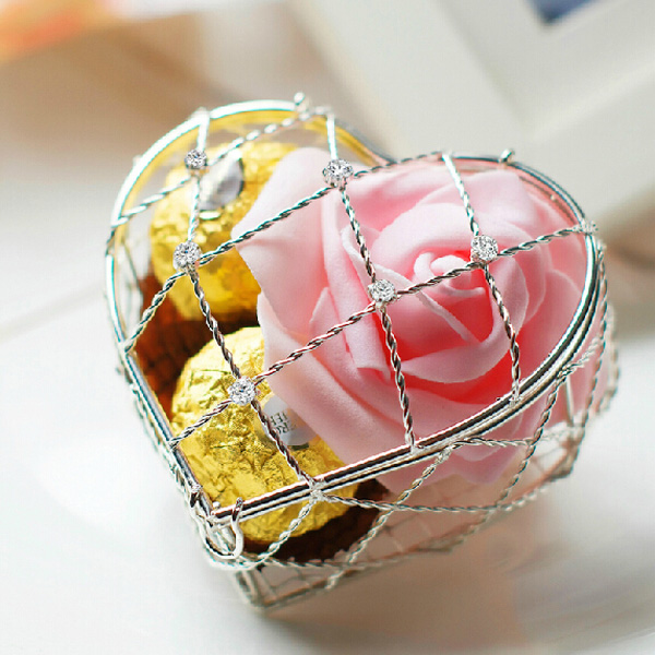 Wedding Favors Baby Shower Gifts Heart Jewelry Shape Decorated Chocolate Box