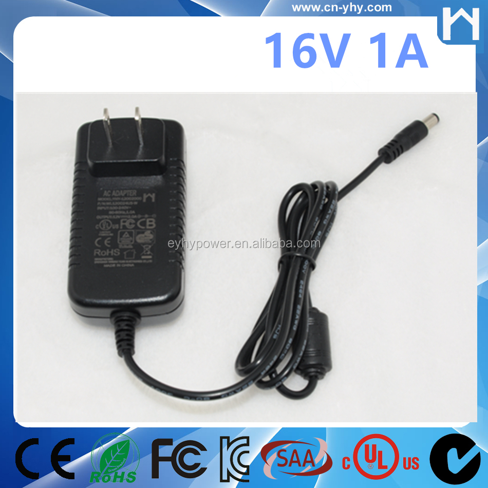 LCD Monitors 16V 1A 16W AC Adapter Power Supply UL 1310 Class 2 AC Adaptor