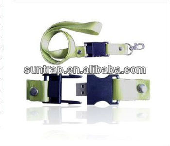 popular mini nylon and ABS plastic lanyard usb flash drive