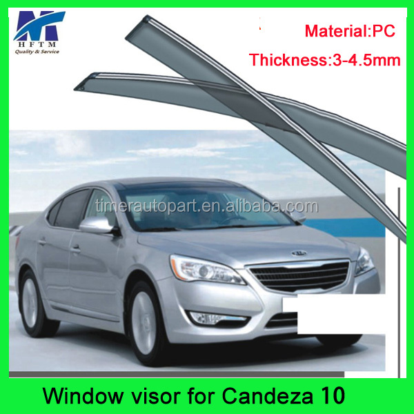 Window air deflector car visor for Candeza 2010