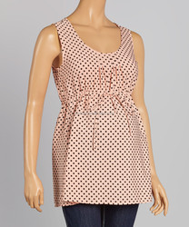 Factory Price Materity T-Shirt With Blush And Black Polka Dot Maternity Sleeveless Tops Women Clothing WT80817-33