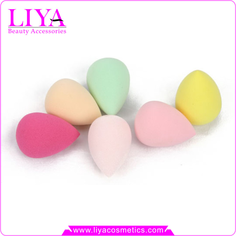 China Liya ODM glitter disposable powder puffs