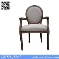 Wooden Living Room Furniture French Armchair