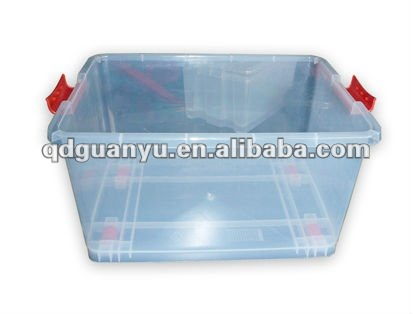 Transparent, custom, plastic household box