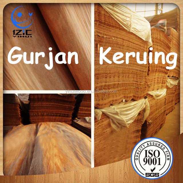 Myanmar Keruing Gurjan Face Veneer a Grade for Plywood