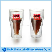 Plastic double wall beer glass