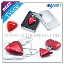 2012 Heart flash drive for valentine's gifts and wedding gifts