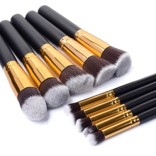 10Pcs Pro Makeup Blush Eyeshadow Blending Set Concealer Cosmetic <strong>Brush</strong> Tool Eyeliner Lip <strong>Brushes</strong>