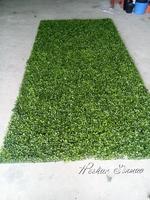 UV-RESISTAT artificial leaf hedge boxwood mat fence for guardrail decor