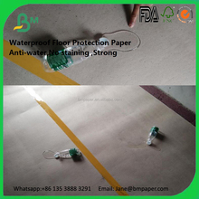 Anti water temporary floor covering paper with water proof