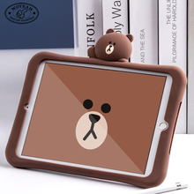 Rubber Silicone Bear Tablet Covers Cases for ipad smart cover