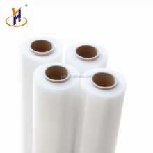 Accept custom order hand lldpe clear pallet stretch wrap with size 17/18/19/20mic*500mm