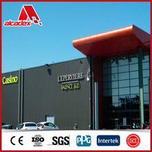 weatherproof PVDF coated outdoor wall cladding plate aluminum composite panel
