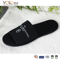 black spa pedicure slippers for wholesale disposable