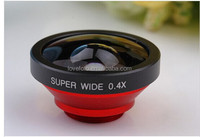 2015 popular for Indonesia portable 3in1 Super Wide Angle 0.4x Clip Lens for Samsung, iPhone , Huawei all mobile phones