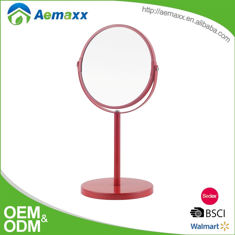 Vanity Mirror bathroom Tabletop Two-Sided Swivel with 3x Magnification round plastic table mirror