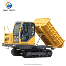 Rated Load 4 Ton Mini Dumper Crawler Track Type Crazy Dumper Truck LXYS-4
