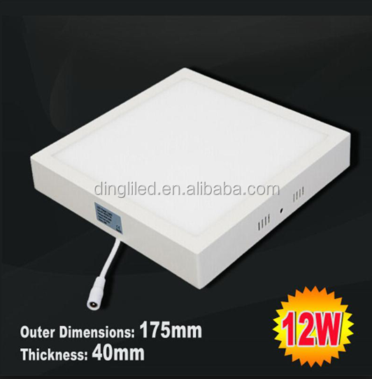 12w Aluminous Surface Mounted Square Led Ceiling light, Indoor Led Panel Light, Flat Led Down lightings