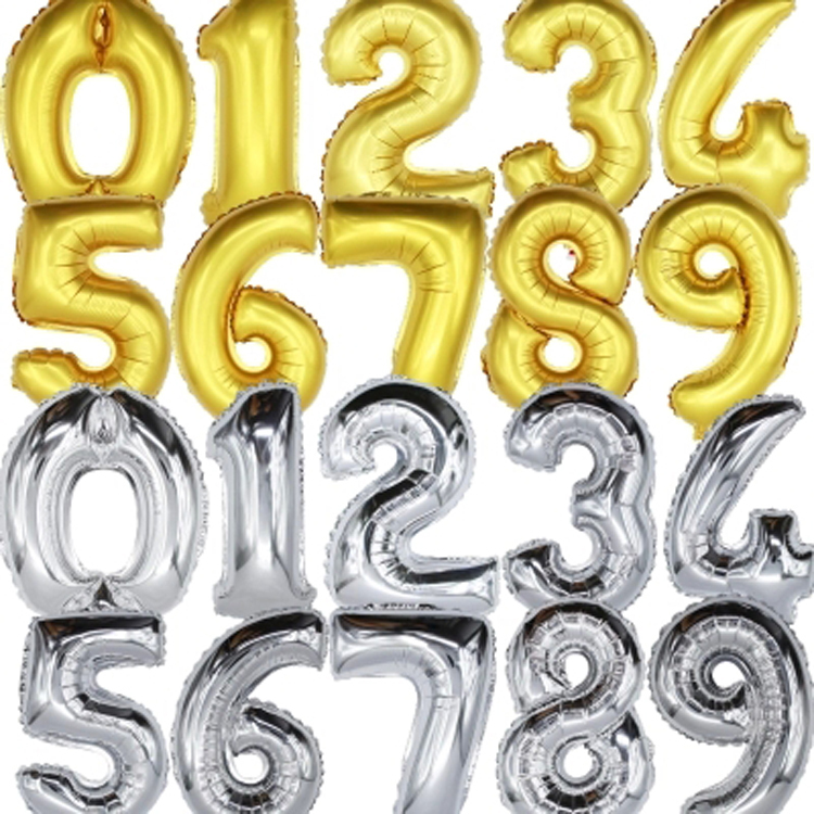 Hot Sale Fashion Foil Colorful Letters Numbers Balloons