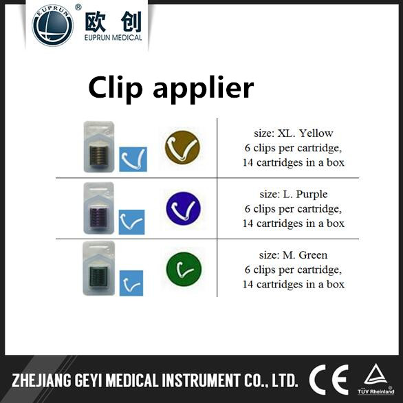 Euprun laparoscopic surgery XL polymer clip applier