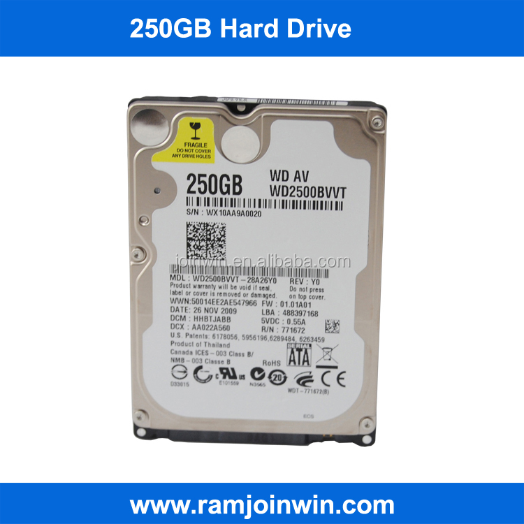 Laptop 2.5inch 5400rpm SATA 250GB hard disk drive