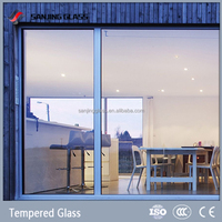 Tempered colored window glass