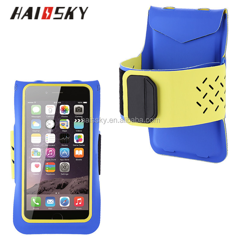 Haissky Universal Adjustable Sweatproof Sport 3 colors Pouch Bag Phone Case For iPhone 6 6S Plus Samsung Galaxy S7 Edge armband