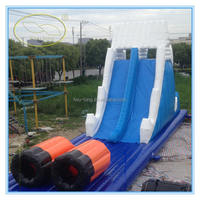 Fwulong PVC 0.55mm large inflatable water slide/inflatable slip n slide for kids and adults