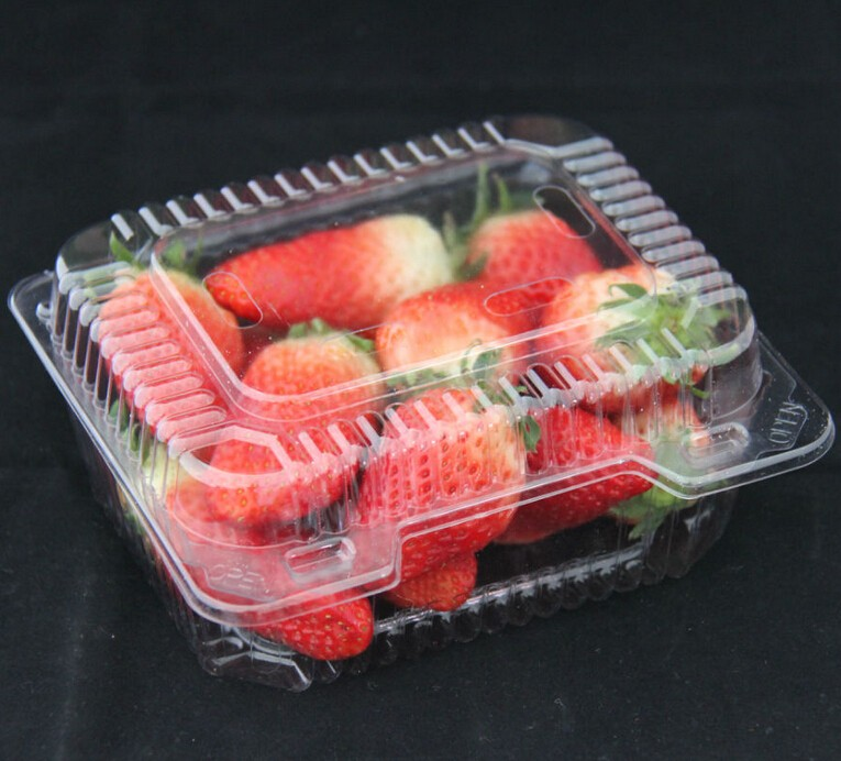 China wholesale stackable disposable transprarent plastic strawberry punnet