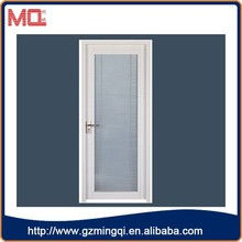 Best price pvc white louvered doors/casement doors with blinds in guangzhou
