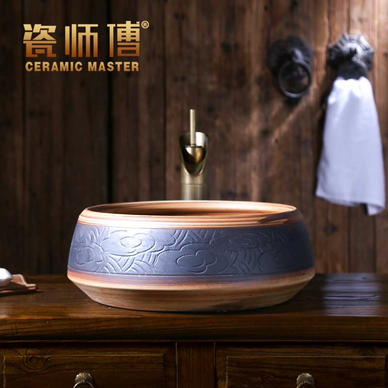 Hotels above counter ceramic artistic porcelain ware wash basin for sale