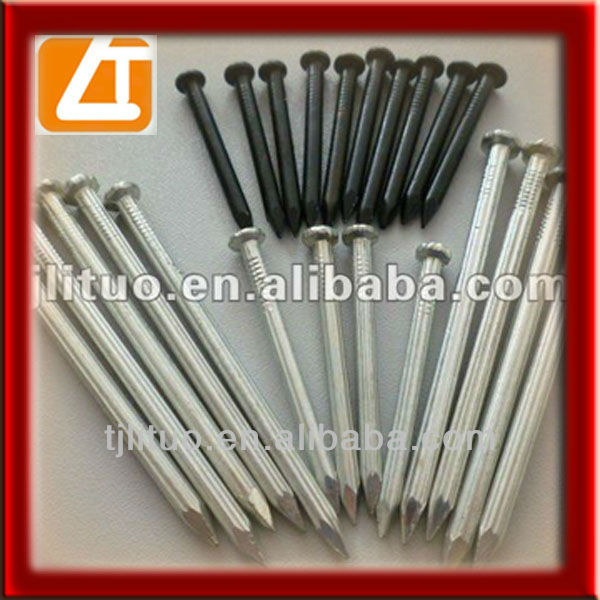 concrete nail,steel wire, flat countersunk head