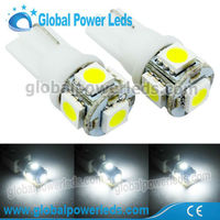 T10 W5W 501 5SMD 5050 LED non-Canbus wedge light white car boat 12v