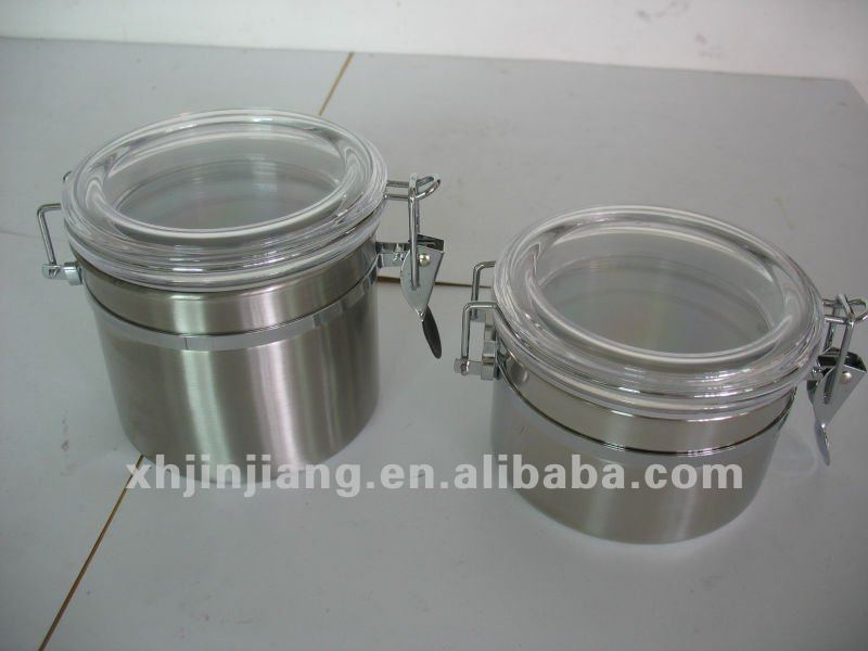 JJM-ST01 stainless steel canister wholesale