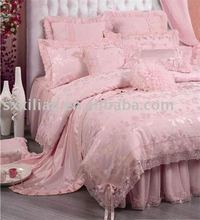 luxury silk jacquard bedding sets/wedding bedding set/duvet cover set