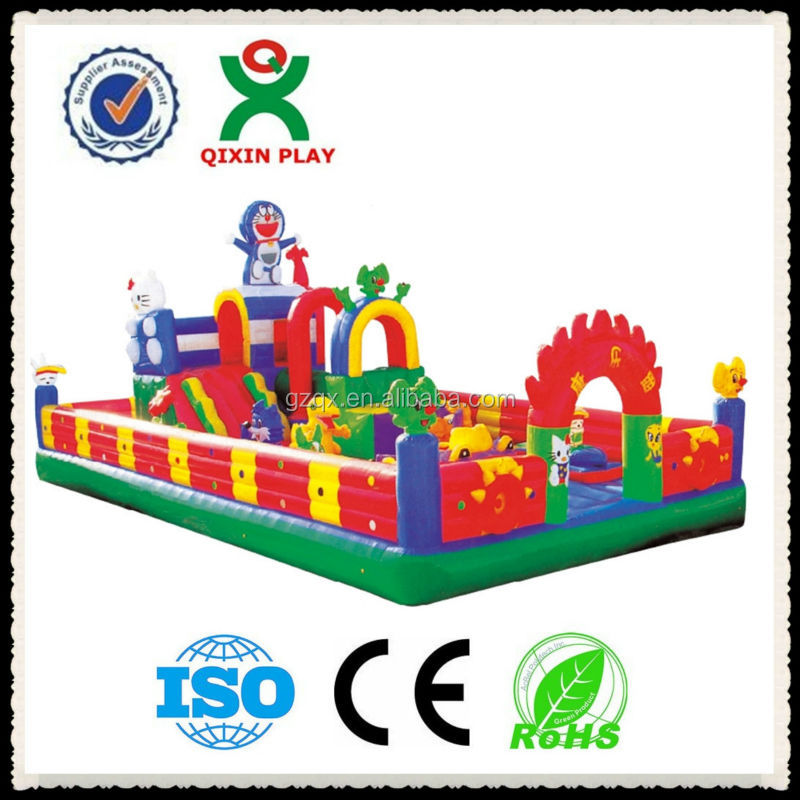 Guangzhou Factory Price Inflatable bouncers wholesale/kids jumping castle for sale/commercial bounce house/QX-114C