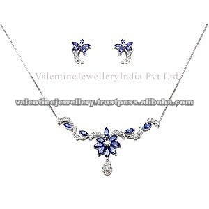 Tanzanite Jewellery Necklace Tanmaniya Set Small