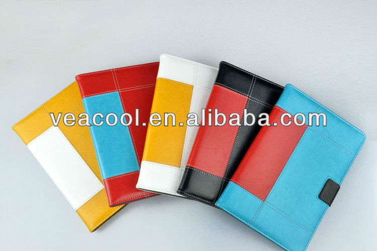 "Double Color Leather Case Cover Skin For Apple Ipad MINI 7""tablet"