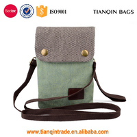 Fashion Ladies Shoulder Bag Canvas Small Cute Crossbody Cell Phone Purse Wallet Bag with Shoulder Strap