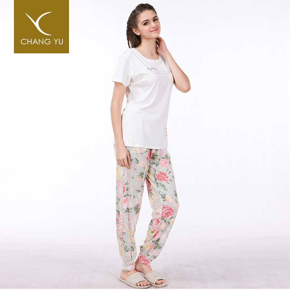Factory knit manufacture stitch pajamas, wholesale cotton pajamas for women sleep wear