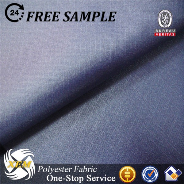 Polyester ripstop pongee fabric for functional coats