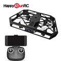 low MOQ rc quadrocopter FPV WIFI VGA camera aerial drone with cage