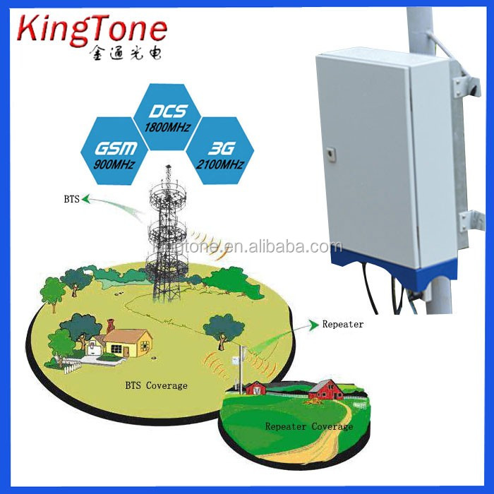 GSM 900 wireless signal booster RF broad band cell phone Repeater Long distance signal enhancement repeater